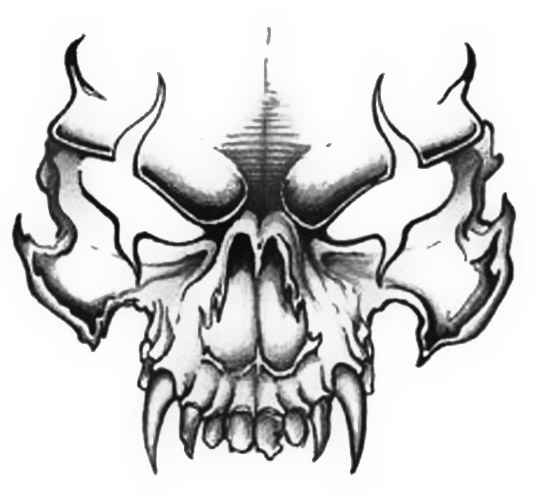 Post skull Vector Art 116939 also Skull002 prc 144848 together with Tribal Antlers besides Flaming Skull Sticker 39 likewise Tattoo Gallery By Jason Glass. on scary cowboy skulls